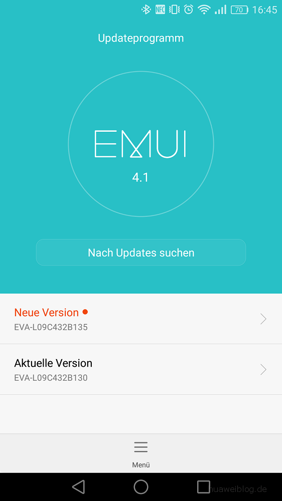 Huawei P9 Firmware Update B135 Aktualisierung