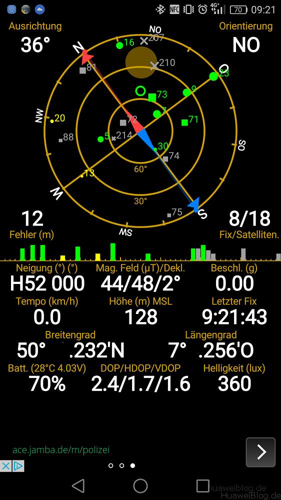 Huawei P9 GPS