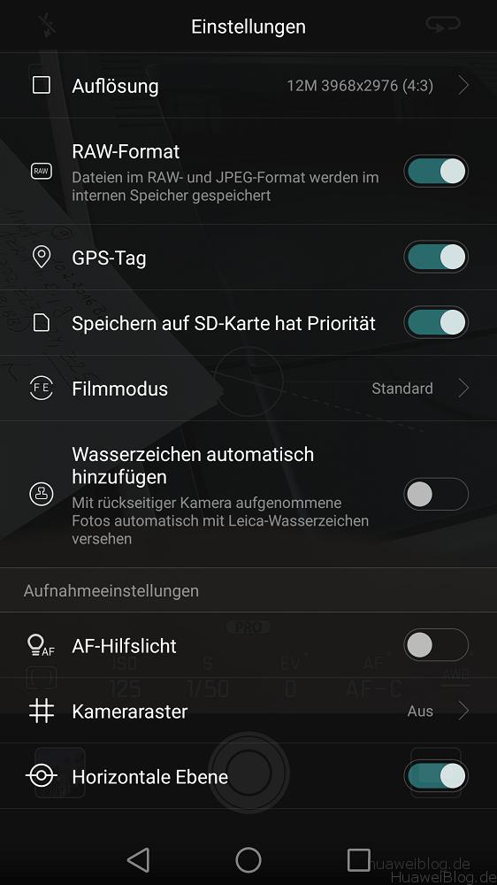 Huawei P9 Kamera Einstellung