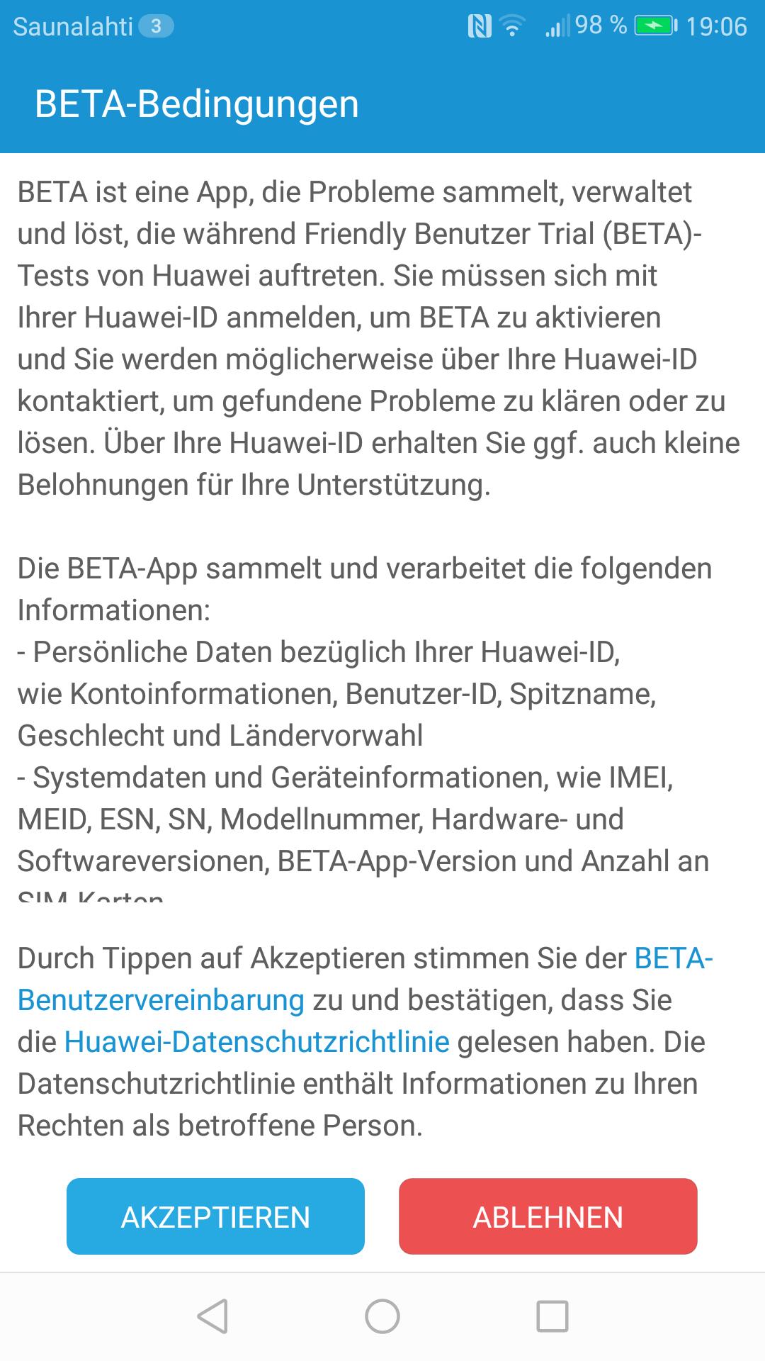 Huawei P9 Lite Nougat Beta