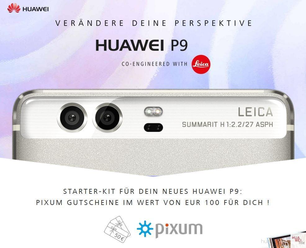Huawei P9 Pixum Gutschein
