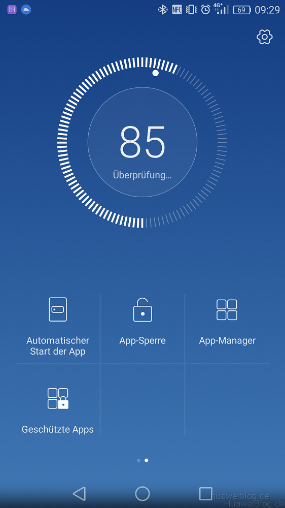 Huawei P9 Telefonmanager Startmanager
