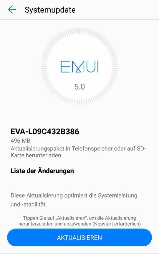Huawei P9 Firmware Update B386
