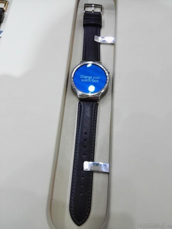 Huawei Watch Classic silber Lederarmband
