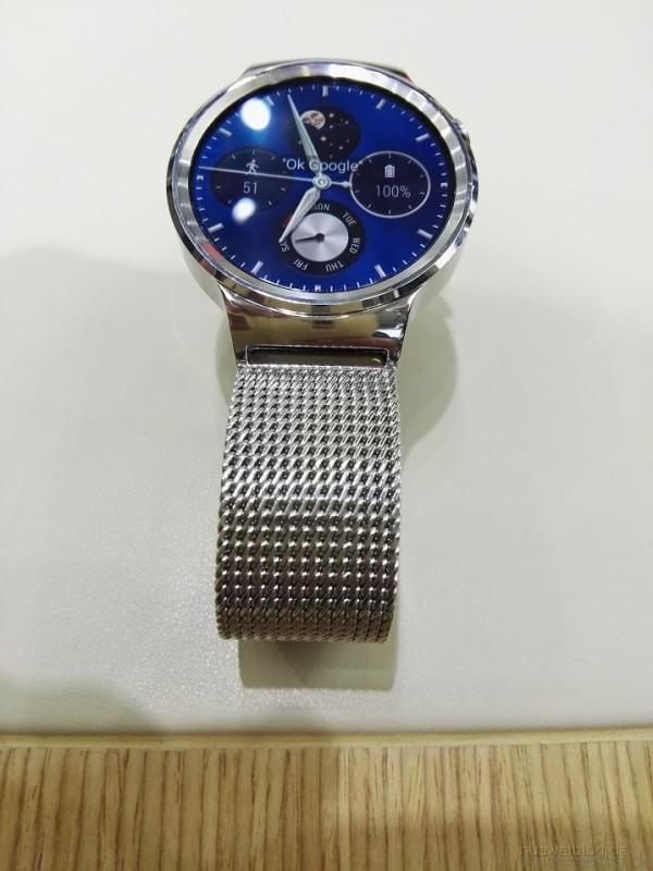 Huawei Watch Classic silber Mesharmband
