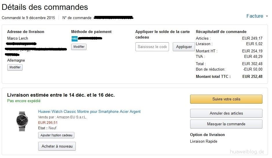 Huawei Watch Deal Amazon.fr