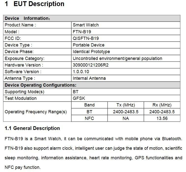 Huawei Watch Details