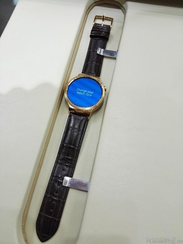 Huawei Watch Elite gold Lederarmband