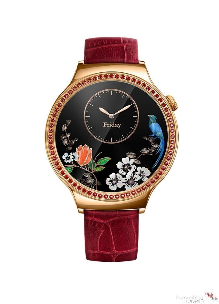 Huawei Watch Lady Damen rot Display