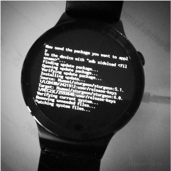 Huawei Watch Update Android Wear 1.4 Marshmallow