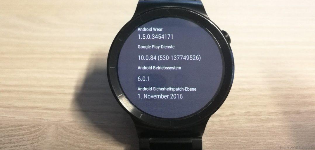Huawei Watch Update November