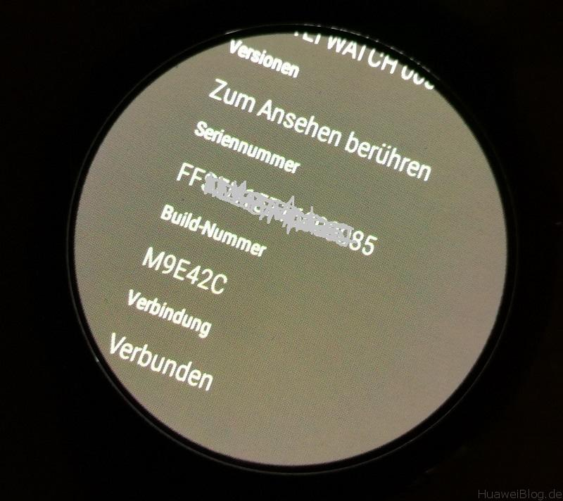 Huawei Watch Update Sicherheitspatch Info