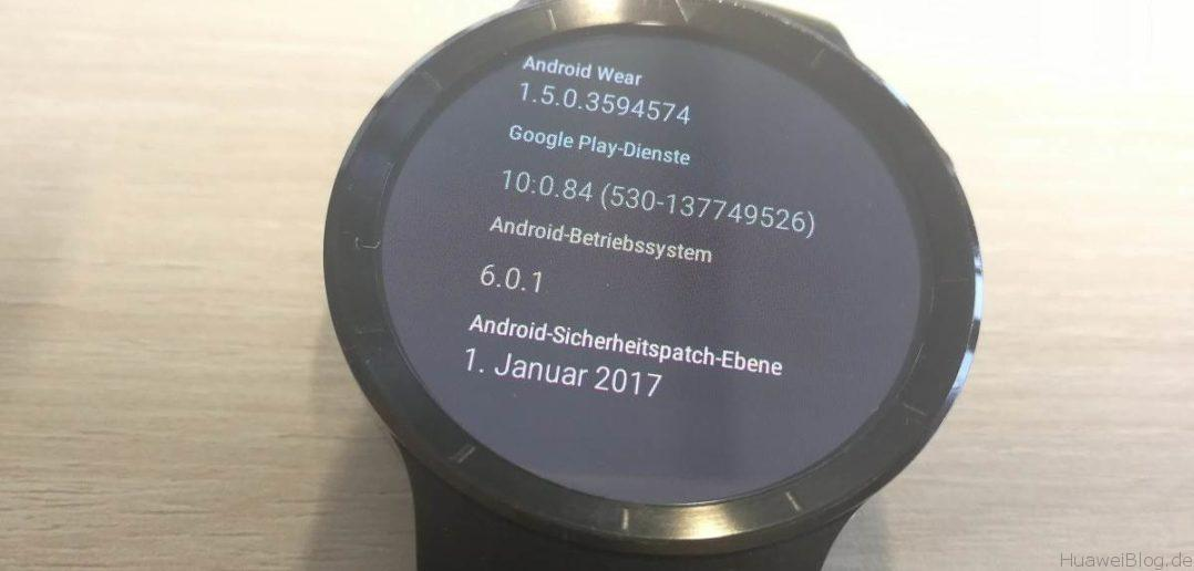 Huawei Watch Update Sicherheitspatch Januar 2017