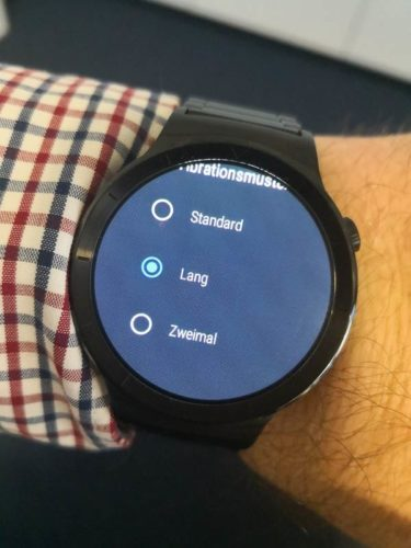 Huawei Watch Update Vibration