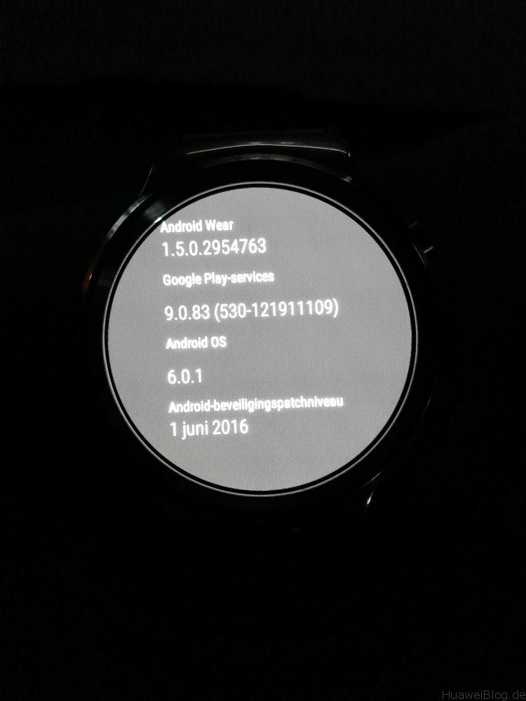 Huawei Watch Update Android Wear 1.5