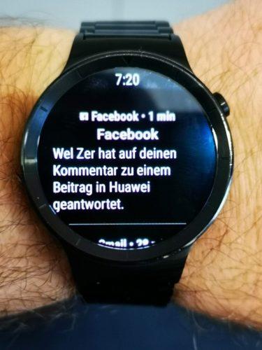 Huawei Watch Update Wear OS 2.1 Benachrichtigungen