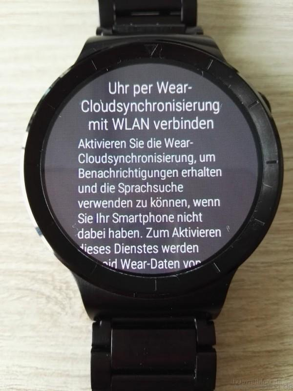 Huawei Watch WLAN Synchronisierung