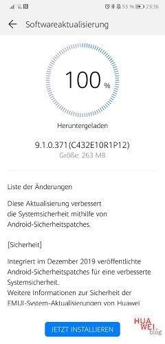 Huawei P20 Firmware Update 371