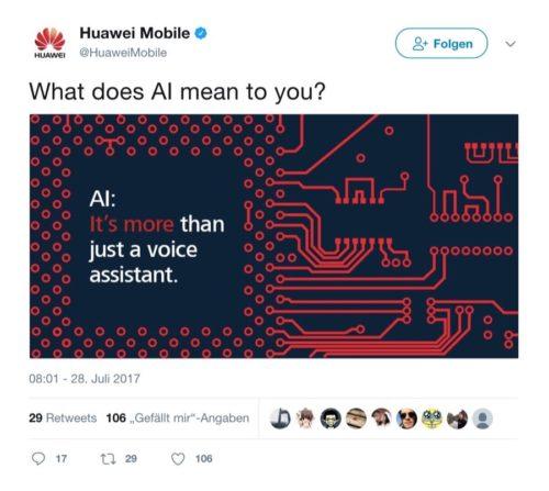 Huawei AI Twitter / Künstliche Intelligenz
