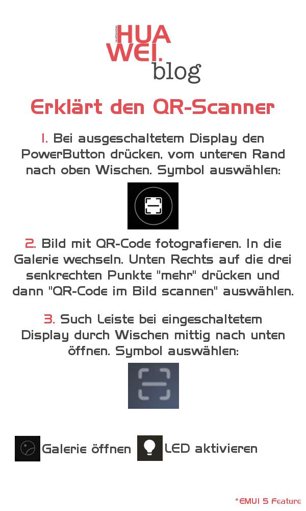 Huawei QR Code scannen mit EMUI 5