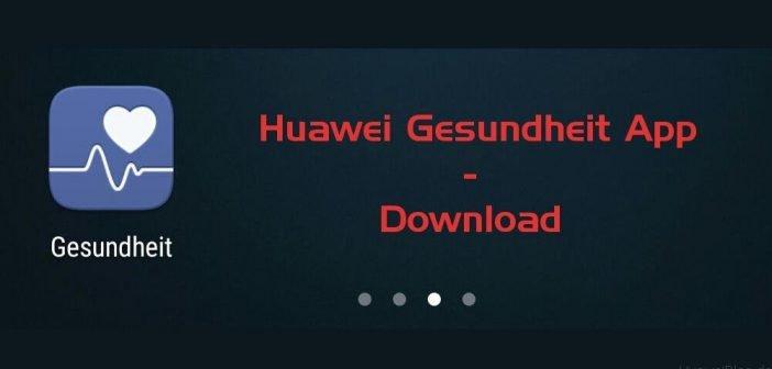 Huawei Gesundheit App Download