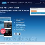 Huawei P8 Gratis mit MediaTab T1 bei o2