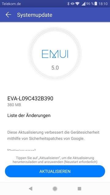 Huawei P9 - Firmware Update - EVA-L09C432B390