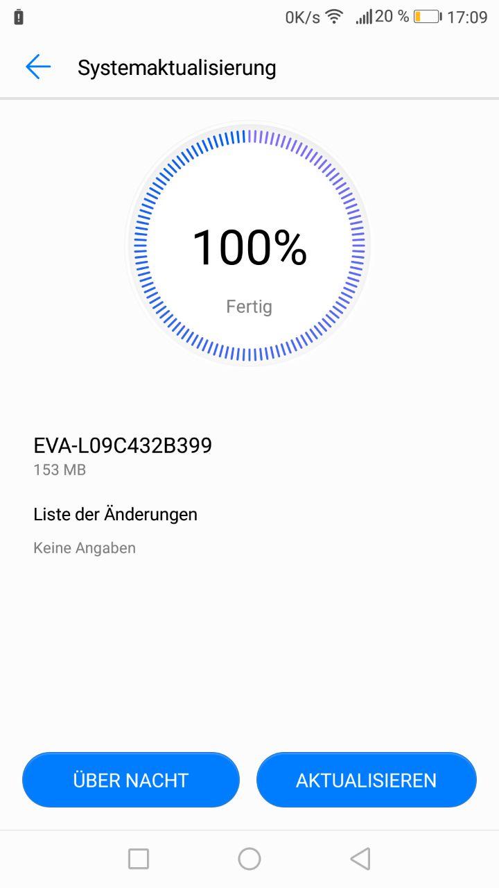 Huawei_P9_Sicherheitspatch_Firmware_Update_Maerz_18_EVA_L09C432B399_Changelog