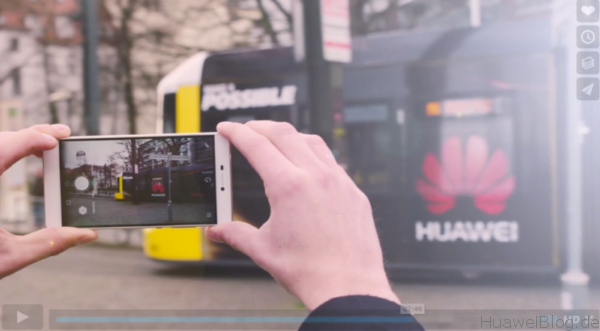 Huawei Tram Bahn - Düsseldorf - Make it possible - Werbung