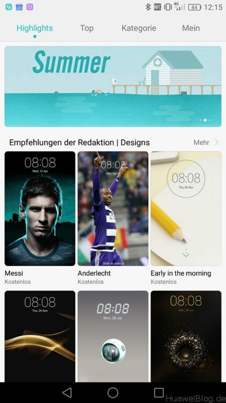 Huawei Design Themes App