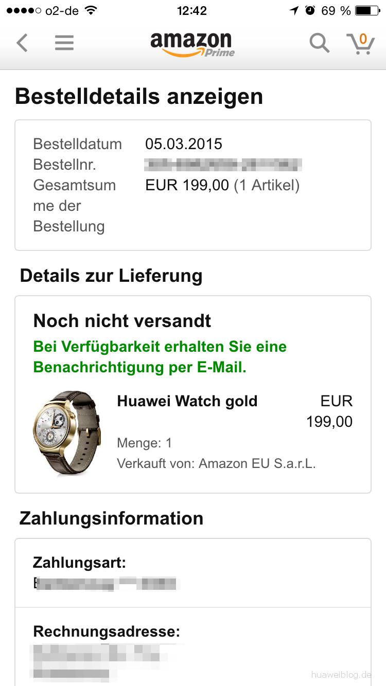 Huawei Watch Preis
