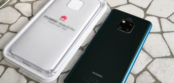 Originale HUAWEI Mate 20 pro Hülle / Case transparent im Test