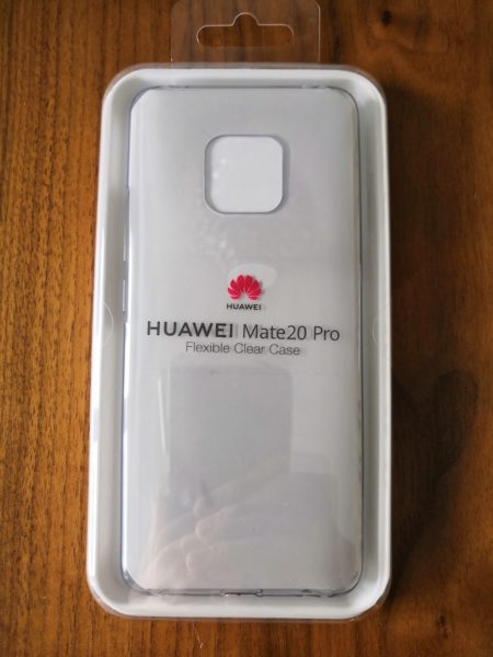 HUAWEI Mate 20 pro Flexible Clear Case - Verpackung vorne