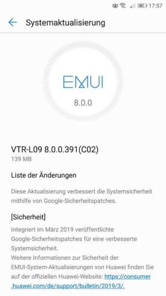 März Updates für Mate 10 lite und P10 (Vodafone) 1