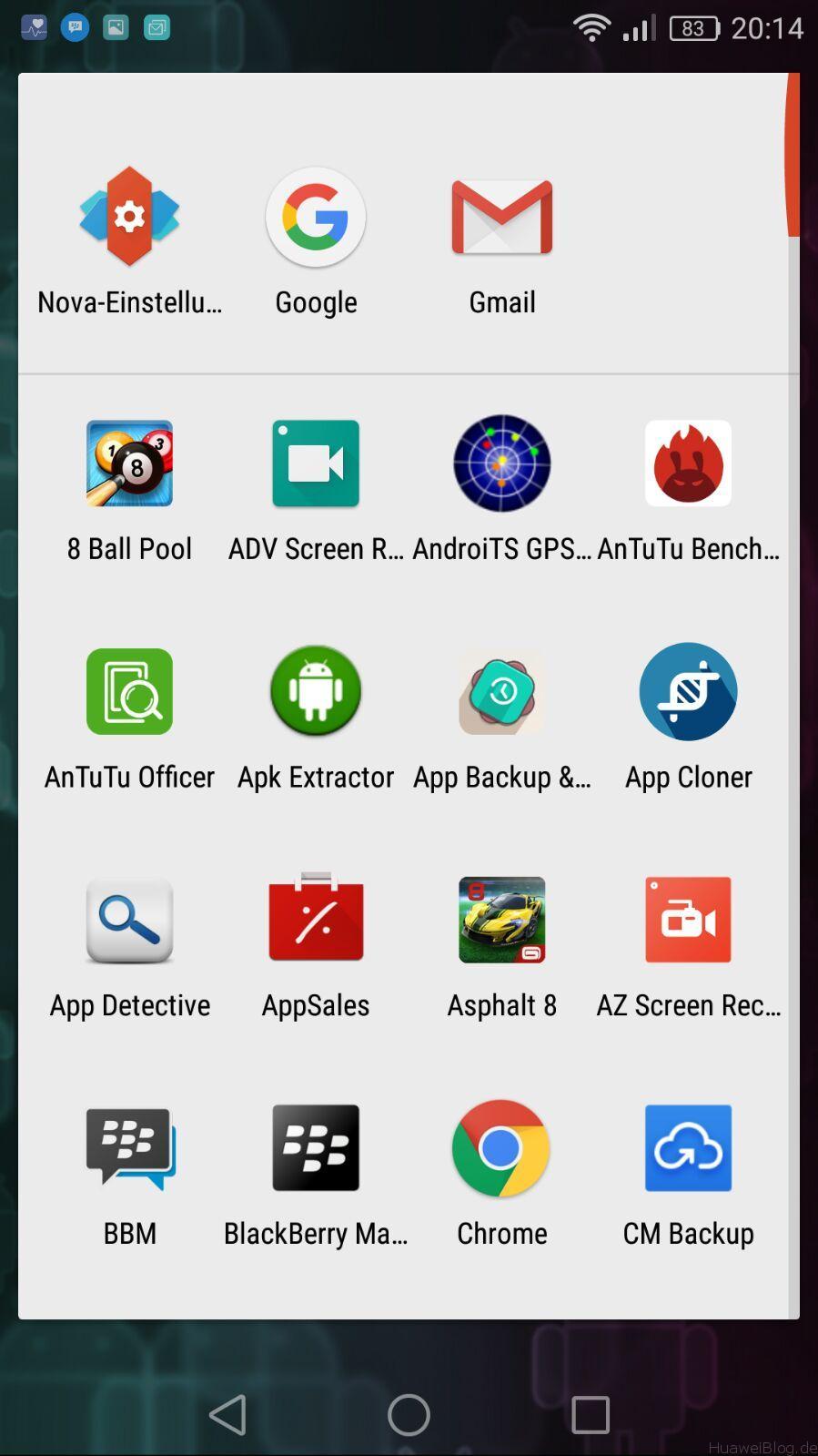 Huawei P9 Lite Test - Nova Launcher App Drawer
