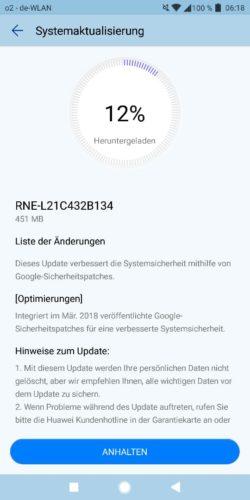 Huawei Mate 10 lite Firmware Update B134