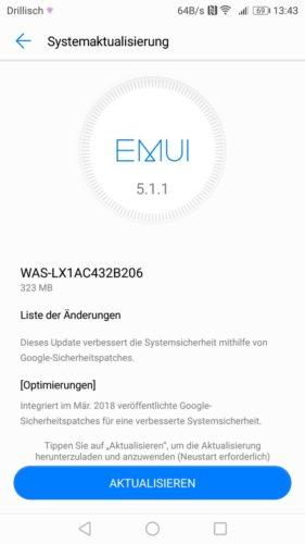 Huawei P10 lite Firmware Update B206