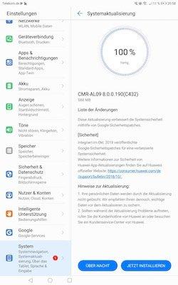 """MediaPad M5 10"""" Firmware Update 190"""