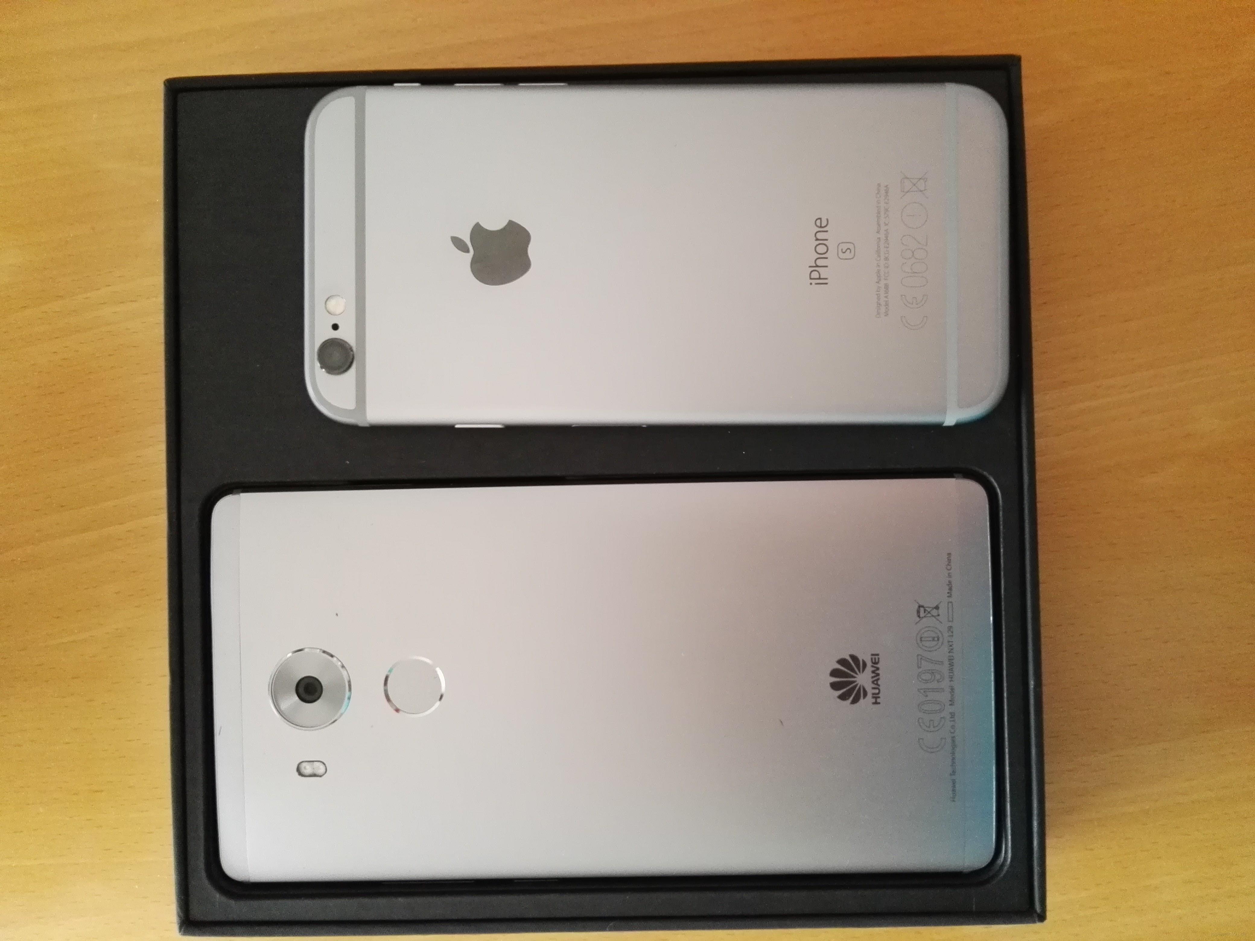 Mate 8 vs iPhone 6S Rückseite