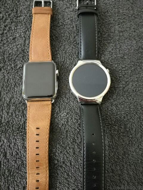 Huawei Watch vs Apple Watch Front