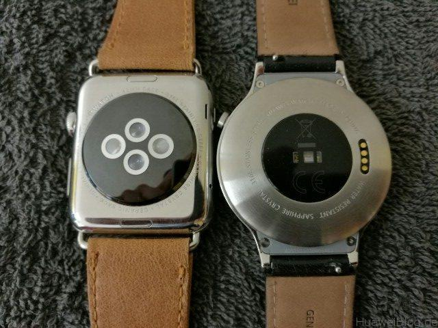 Huawei Watch vs Apple Watch Rückseite