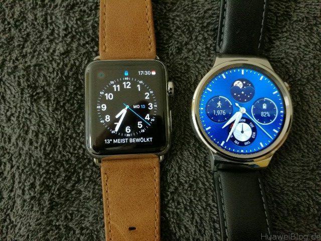 Huawei Watch vs Apple Watch Ziffern