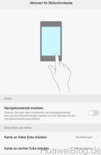 Huawei P9 Plus Bildschirmkanten aktivieren