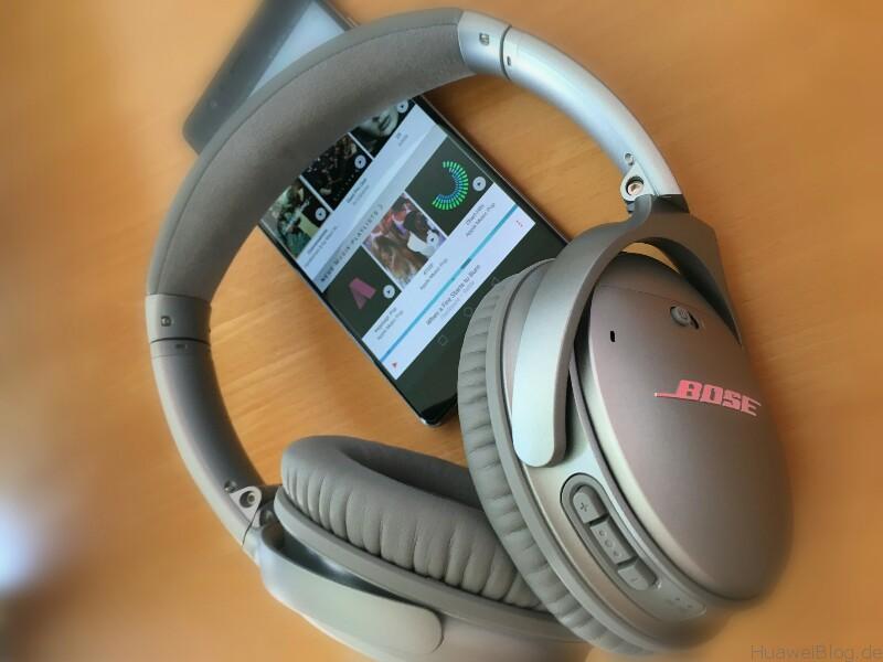 Huawei P9 Plus meets Bose Q35 Apple Music 2