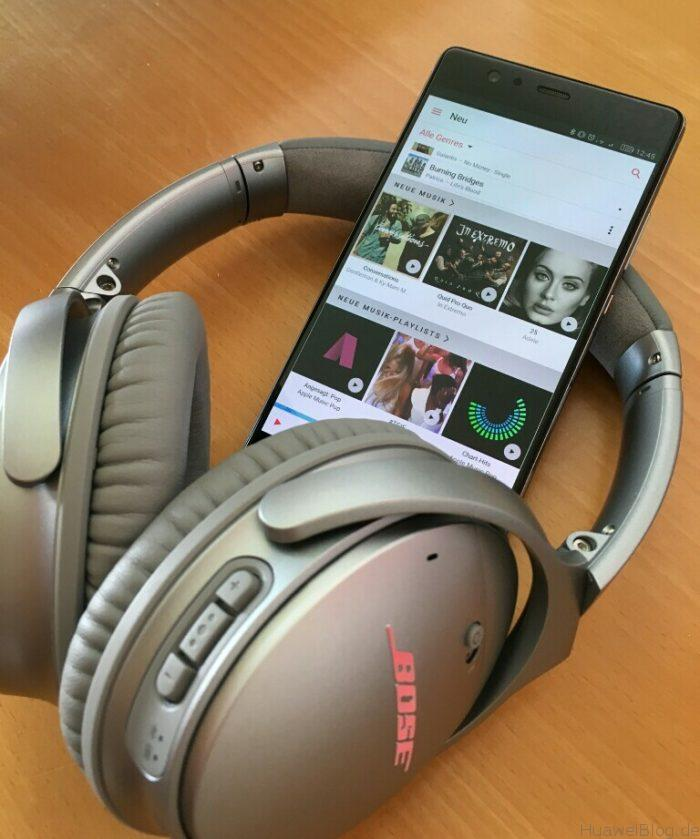 Huawei P9 Plus meets Bose Q35 Apple Music