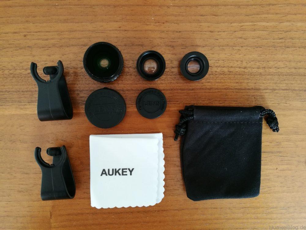 AUKEY 3 in 1 Lense Kit - Test - Inhalt