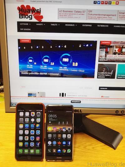 Huawei P9 Plus vs. iPhone 7 Plus Office