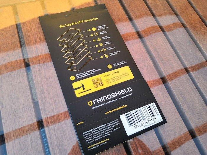 Huawei P20 Rhinoshield Display Schutz - Verpackung