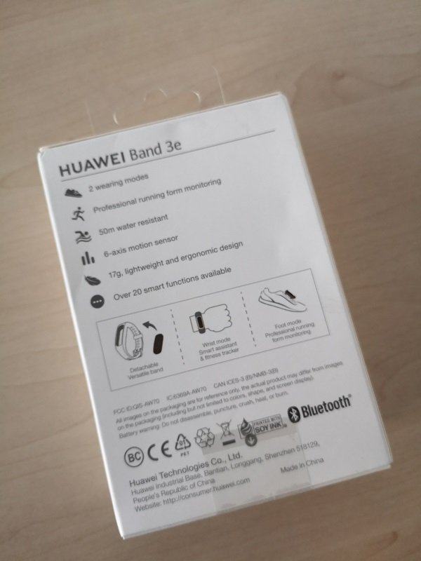 Huawei Band 3e Unboxing