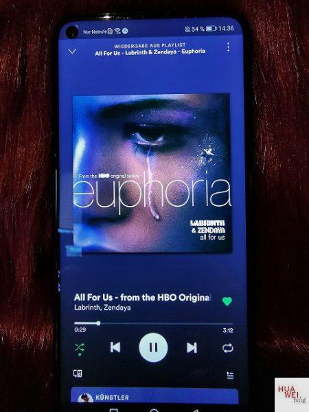 Spotify auf dem Huawei Nova 5T